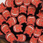 Polymer Clay Red Devil Cane