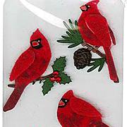 Tiny Felt Red Winter Cardinal Stickers*