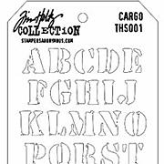 Tim Holtz Stencil - Cargo