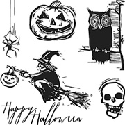 Tim Holtz Carved Halloween Cling Stamp Set