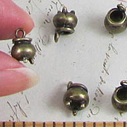 Tiny Bronze Cauldron Charms*