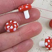 Ceramic Mushroom Beads