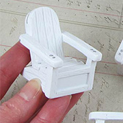 Miniature White Beach Chairs