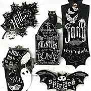 Halloween Chalkboard Words Stickers*