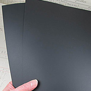 Chalkable 12x12 Black Cardstock