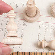 Wood Finial Chess Pawns