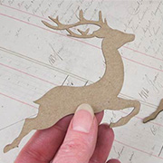 Chipboard Reindeer Die-Cut Shapes*
