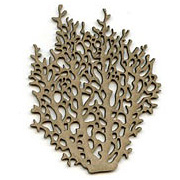 Large Coral Die-Cut Chipboard*