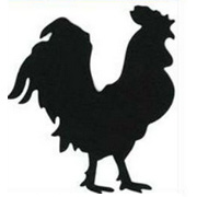Black Die-Cut Chipboard Roosters*