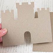 Die-Cut Chipboard Sand Castle*
