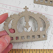 Die-Cut Chipboard Crowns
