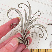 Chipboard Leaf Flourishes*