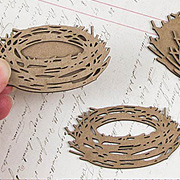 Layered Chipboard Nest Cut-Outs*