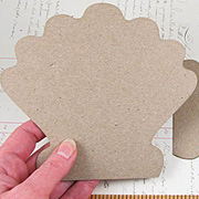 Die-Cut Chipboard Scallop Shell
