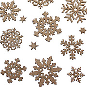 Chipboard Snowflake Cut-Outs