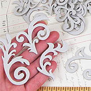 Fleur and Swirl Chipboard Set
