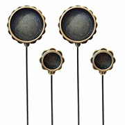 Circle Hatpins - Bronze