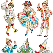 Circus Dancers Stickers