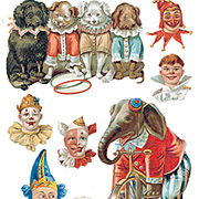 Circus Elephants Stickers