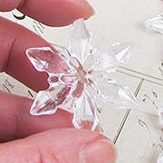 Clear Acrylic Snowflakes