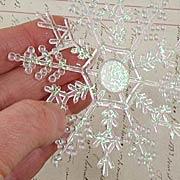 4 Inch Iridescent Snowflakes