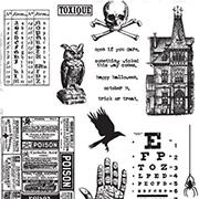 Tim Holtz Mini Halloween #5 Cling Stamp Set