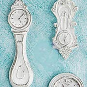 Shabby Chic Resin Clocks