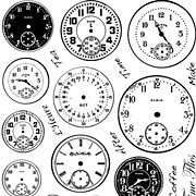 Tick Tock Clock Faces Unmounted Rubber Stamp Set