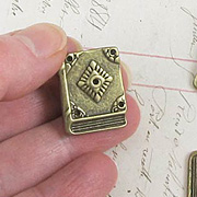 Bronze Closed Book Charm
