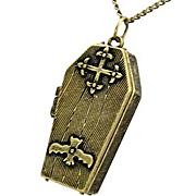 Antique Bronze Coffin Locket*