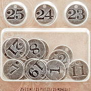 Tim Holtz Countdown to Christmas Coins