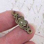 1 Inch Wrought Iron Bronze Connector Filigree*