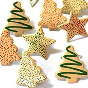 Christmas Cookies Metal Brads