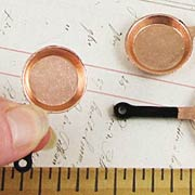 Miniature Copper Frying Pans