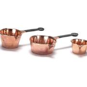 3 Copper Pots with Spouts