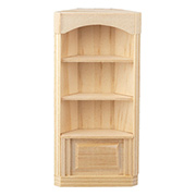 Half Scale Corner Bookcase with 3 Shelves
