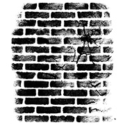 Cracked Brick Wall Cling Stamp