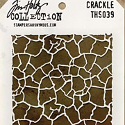 Tim Holtz Stencil - Crackle