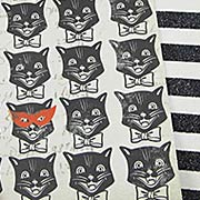 Glittered Scaredy Cats Scrapbook Paper
