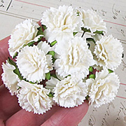 Mulberry Paper Carnations - Cream*