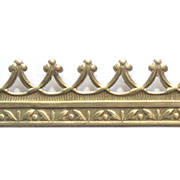Embossed Brass Trim - Narrow Crown Filigree