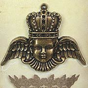 A Gilded Life - Crowned Angel Pendant - Gold