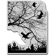 Crowscape Cling Stamp