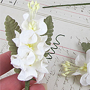 White Curly Petal Paper Flower Sprays*