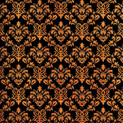 Halloween Damask with Orange Swirls Scrapbook Paper