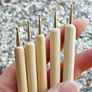 Tiny Dapping or Dotting Tools - Set of 5