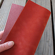 Dark Rusty Red Suede Paper*