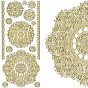 Dazzles Gold Doilies Stickers