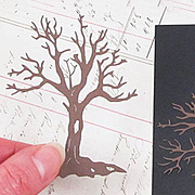 Die-Cut Textured Dead Trees