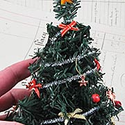 Miniature Decorated Christmas Tree**